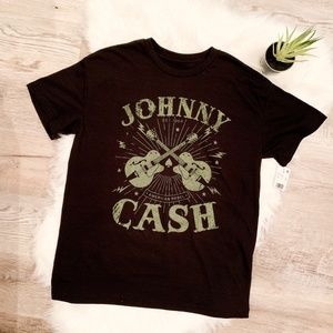 NEW Johnny Cash Short Sleeve Graphic Tee